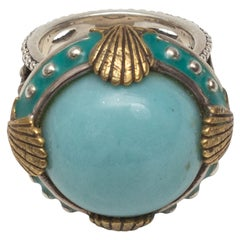 Echo Turquoise & Sterling Silver of the Dreamer Statement Ring