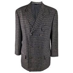 Gianni Versace Versus Vintage Mens Grey Wool & Mohair Blazer Jacket Sport Coat