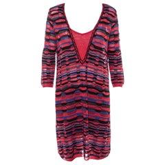 M Missoni Multicolor Patterned Knit Shift Dress L