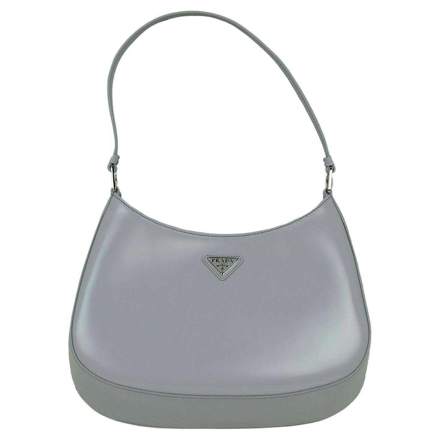 Prada LIKE NEW Cornflower Blue Brushed Calfskin Cleo Shoulder Bag