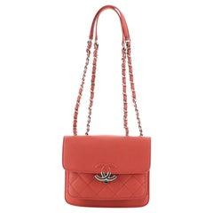 Chanel CC Box Flap Bag Quilted Calfskin Mini