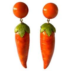 XL Carrot Statement Earrings