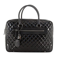 Chanel Travel Suitcase Quilted Vinyl with Calfskin Large