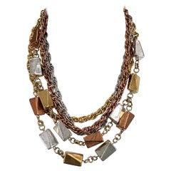 Monet Retro Link Chain Necklace