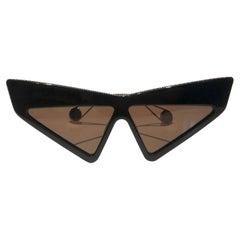 2017 Runway Gucci Hollywood Cat-Eye Oversized Sunglasses GG0430S