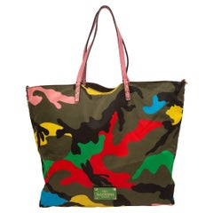 Valentino Multicolor Reversible Camo Tote Bag