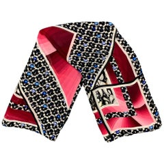 PETER PILOTTO Red & Black Abstract Silk Scarf