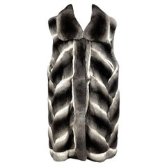 Brand new chinchilla fur vest size M