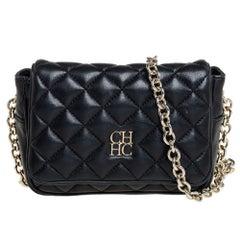 Carolina Herrera Quilted Leather Chain Crossbody Bag