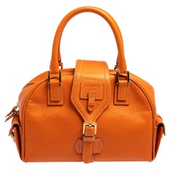 Loewe Burnt Orange Leather Bowling Bag