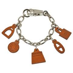 Hermes Brown Barenia Breloque Olga Amulette Bag Charm MM
