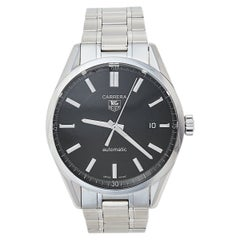 Tag Heuer Black Carrera WV211B.BA0787 Automatic Men's Wristwatch 38 mm