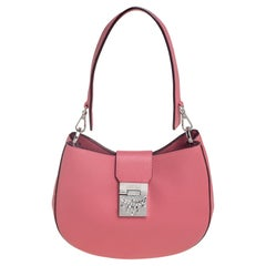 MCM Pink Leather Patricia Hobo