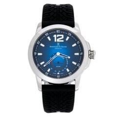Bernhard H. Mayer Blue Stainless Steel Silicon Drift Men's Wristwatch 44 mm