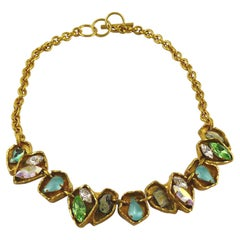 Christian Lacroix Vintage Jewelled Gold Toned Necklace