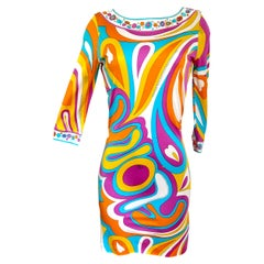 Citrus Mix-Print INES shift dress Flora Kung NWT