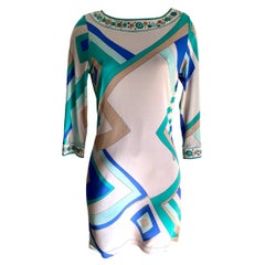 Blue Mix-Print INES shift dress Flora Kung NWT - 'Imperfect'