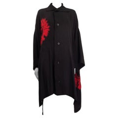 Y'S by YOHJI YAMAMOTO black TIE-DYE Shirt Dress 2 M
