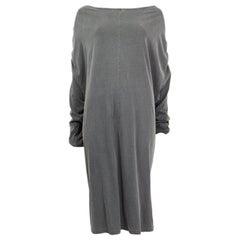 BALENCIAGA grey cotton jersey TIE BACK Dress S