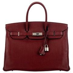 Hermes Birkin 35 Rouge H Clemence