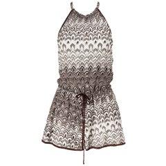 Missoni Mare Halterneck Crochet Knit Playsuit IT 38 UK 6