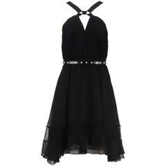 Jason Wu Collection Plissé Silk Chiffon Dress US 6 UK 10