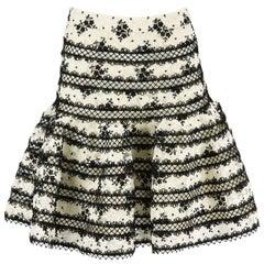 Zimmermann Master Embroidered Lace Mini Skirt UK 10