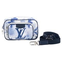 New Louis Vuitton Unisex Watercolor Blue Messenger Bag with Box