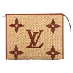New Louis Vuitton Limited Edition Raffia Clutch Bag