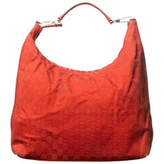 Gucci Jackie Large Guccissima Red Hobo Bag