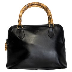 Gucci Vintage Leather Bamboo Diana Top Handle Bag