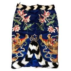 Iconic Tom Ford Dragon Embellished Skirt