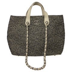 Chanel Tweed Cotton Tote Bag