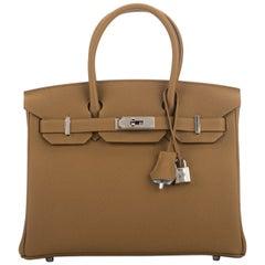 New in Box Hermes Birkin 30 Bronze Verso Blume Bag Limited Edition