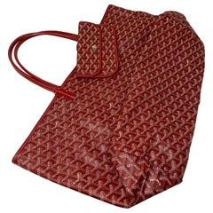 Goyard St. Louis GM Red Tote Bag