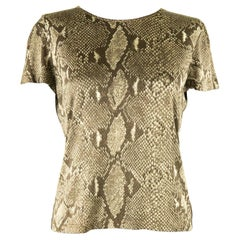 Tom Ford For Gucci SS 2000 Snakeskin Jersey T-Shirt