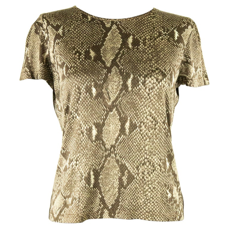 Tom Ford For Gucci SS 2000 Snakeskin Jersey T-Shirt For Sale