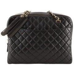 Chanel Vintage Front Pocket Camera Bag Quilted Lambskin Large
