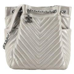 Chanel Urban Spirit Drawstring Bag Iridescent Chevron Calfskin Small