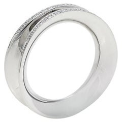 Chopard Imperiale Diamond 18K White Gold Ring Size 52