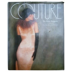 Couture The Great Designers Book by Caroline Rennolds Millbank c 1985