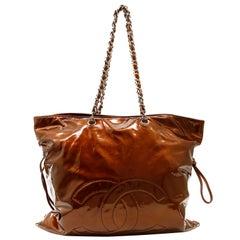 Chanel Copper Patent Leather Bon Bon Tote