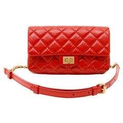 Chanel Red Aged Calfskin 2.55 Reissue Waist Bag