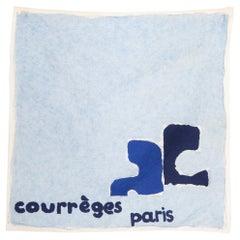 1970 Blue Courreges Cotton Scarf