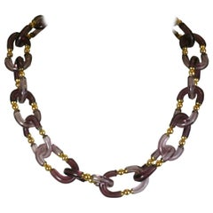Archimede Seguso for Chanel Glass Link Chain