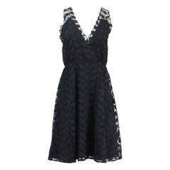 Jill Stuart Appliqued Tulle Dress US 6 UK 10