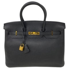 Hermes Birkin Black 35 Bag
