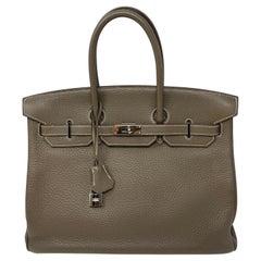 Hermes Birkin Etoupe 35 Bag