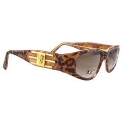 "New Vintage Look Riviera "" Caracas "" Leopard Print Sunglasses France"