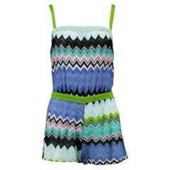 Missoni Mare Cutout Crochet Knit Playsuit IT 38 UK 6
